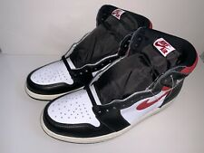 Mens Nike Air Jordan 1 Retro High OG Black Gym Red 555088-061 Mens Size 11.5