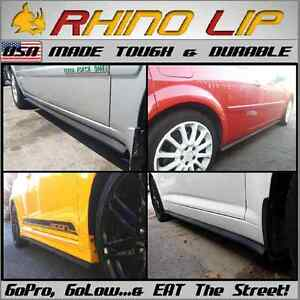 12' Rubber Flex Universal Hardware Installed Side-Skirt Chin-Lip Trim Extensions