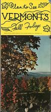 Vintage 1950's Vermont Travel Brochure - Plan to See Vermont's Fall Foliage