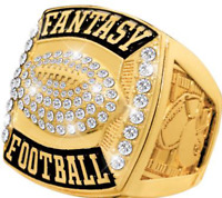 Fantasy Football Championship Ring Trophy Winner Gold or Silver