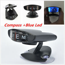 Blue Led Lighte Compass For Car Truck Bike Interior Windshield or Dash Compass