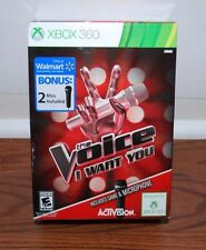 (NEW SEALED) THE VOICE I WANT YOU XBOX 360 2 MICROPHONE PARTY FAMILY FUN GAMES