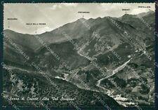 Torino Coazze Forno di Alta Val Sangone Mappa Foto FG cartolina KF1572