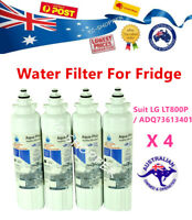 4 X LG LT800P ADQ73613401 ICE AND WATER FRIDGE FILTER