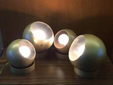 Mid Century modern Eyeball orb Steel lamps set of 4 easy to mount,store display?