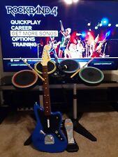 Rock Band 4 Rivals Sony Ps4 Playstation 4 Set Band-in-a-Box Blue Fender Jaguar