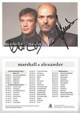 Autogramm Marshall (Sohn von Toni) u. Alexander auf AK Tenor Klassik Sänger