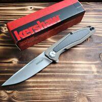 Kershaw Atmos Tan G10 Handle 8Cr13MoV Plain Edge Tactical Folding Knife 4037TAN