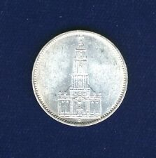 GERMANY  THIRD REICH  1935-D   5 REICHSMARK SILVER COIN, BRILLIANT UNCIRCULATED