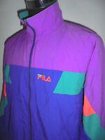 vintage 80`s FILA Nylon Jacke sportjacke 80er oldschool Trainingsjacke 52 (L)