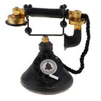 Vintage Style Rotary Telephone Corded Retro Dial Phone Home Desk Ornaments