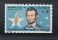 Dahomey 1965 Abraham Lincoln Sc C29  Mint never hinged