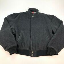 Mens VTG Woolrich Bomber Jacket Coat SZ XL Wool Blend 2 Pocket USA Made Zip Up