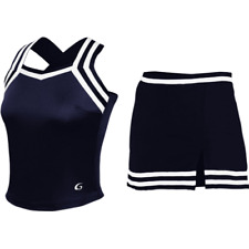 NEW Real Authentic GTM Champion Navy Blue White Cheerleading Cheer Uniform Large