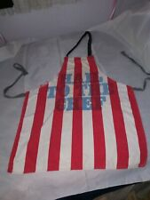 Distressed Bib Apron Vintage Hail To The Chef