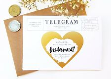 Will You be my Bridesmaid Thank You Gender Reveal Pregnancy Baby Card