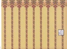 Brodnax Prints Brighton w Border 1VT309 Victorian wallpaper dollhouse 1/12 scale