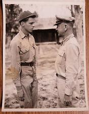 WWII BURMA IBT PHOTO D. PRINGLE of SIGNAL CORPS RECEIVES BRONZE STAR Gen SULTAN