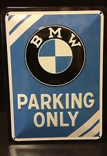 BMW PARKING ONLY Embossed Steel Sign Garage Wall Decor 15x20 Cm