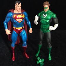 "DC Comics Superman & Green Lantern 7"" Action Figure Toy Bundle"