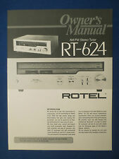 ROTEL RT-624 TUNER OWNER MANUAL FACTORY ORIGINAL