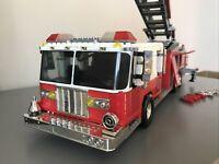 FDNY Fire Engine, Probuilder, Nearly Complete; Mega Bloks