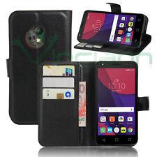 Custodia FLIP cover NERA per Alcatel Pixi 4 5045X 5045D 5.0 case stand+tasche W5