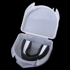 Black Teeth Protector Mouth Guard Piece Gear for Boxing Sports Size