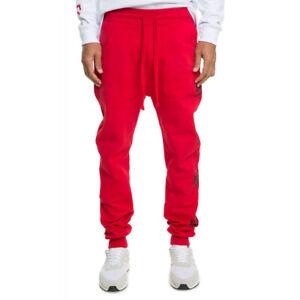 Billionaire Boys Club Curved Logo Sweatpants Men's Red / Black 891-1100 NEW