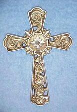 Crosses Silver Cross Wall Hanging Decor w/ Rhinestone center Christian Religious