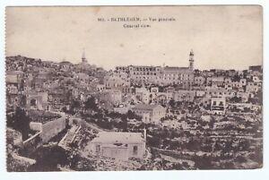 Antique Postcard View of Bethlehem in Palestine Carte Postale Published C 1920's