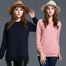 Scoop Neck Spotted Classic Casual Tops & Shirts for Women