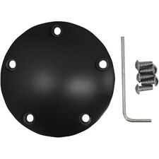 Flat Black Radius Points Ignition Cover Harley Twin Cam Motor