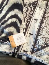 """Pottery Barn Demi Paisley Pillow Cover 16x26"""" Brown Cream NWT $39"""