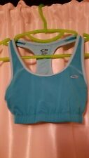 Turquoise blue sports bra top, size S by Champion. Duo dry