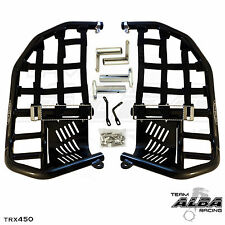 TRX 450R 450ER  Nerf Bars  Pro Peg Heel Guard  Alba Racing  Black Blk 218 T7 BB