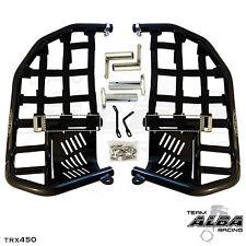 TRX 450R 450ER  Nerf Bars  Pro Peg Heel Guard  Alba Racing  Black Blk 218 T7 BB
