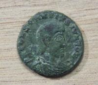 Constantius Gallus Fel Temp Reparatio AE 17.8 mm Follis Soldier spearing enemy