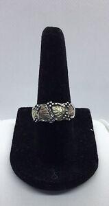 Vintage Black Hills Gold Ring - Sterling Silver & 12k Gold, Sz 7.25, EUC