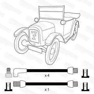 Austin 7 Traditional Acorn Fitting ignition Leads by Powerspark ignition