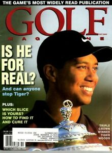 2000 (OCT.) Golf magazine, Tiger Woods, Triple Crown Winner, Is He for Real? ~VG