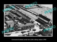 OLD LARGE HISTORIC PHOTO OF CARNOUSTIE SCOTLAND, VIEW OF RAILWAY STATION c1950