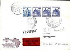 Schiffspost Brief Eilzustellung Schiff MS EUROPA Paquebot Langstempel 1982 Cover
