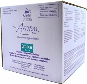 Avlon Affirm Sensitive Dry & Itchy Scalp Hair Relaxer Kit with  9 Application