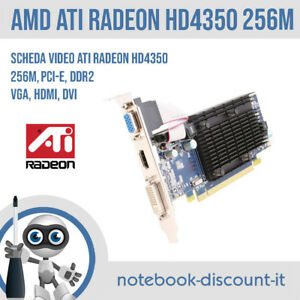 ATI Radeon HD4350 256mb Scheda Video PCI-E USCITE: VGA HDMI DVI