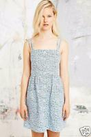 NEW EX  BLUE WHITE DITSY FLORAL COTTON SUMMER SUN DRESS UK 6 8 10