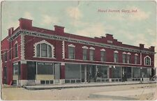 Indiana In Postcard 1913 GARY Hotel Norton Building Stores