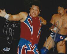 Yoshihiro Tajiri & Super Crazy Signed 8x10 Photo BAS Beckett COA WWE ECW Picture