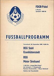 FDGB-Pokal 89/90 BSG Motor Stralsund - BSG Stahl Eisenhüttenstadt, 30.09.1989