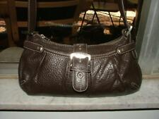 Jones NY brown textured leather hobo Nicely Detailed! Silver tone hardware Cute!